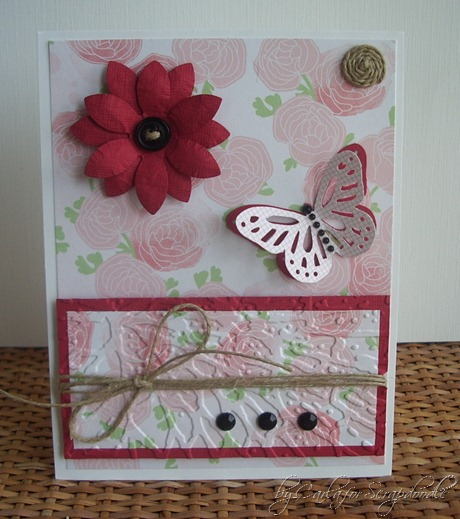 Embedded Embossing, Neopolitan Papers, Monarch Punch, 6 Petal Flower Punch, Scrapadoodle, Carla's Scraps (2)