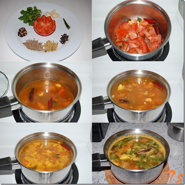 Paruppu rasam process