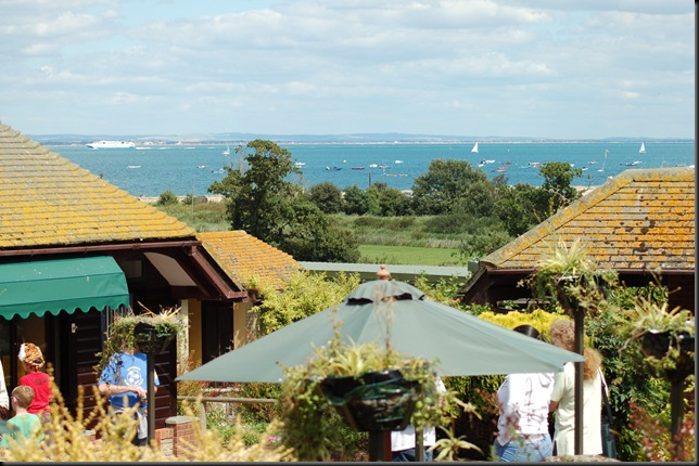 View across Cafe and Solent