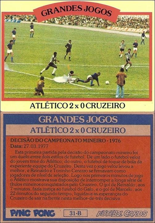 31-B - Atlético 2x0 Cruzeiro