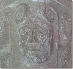 Cara de posible religioso - San Esteban de Eusa