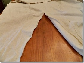 drop cloth ruffled pillow how to 2