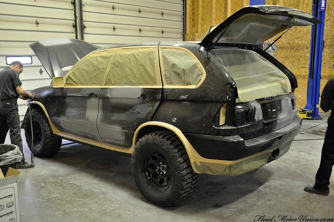 Wrecked BMW X5 Turned Into a PostApocalyptic FlameSpitting Beast