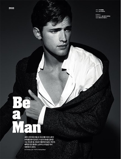 Sean O'Pry by Kristiina Wilson for L'Officiel Hommes Korea #6.  Styled by Bom Lee.