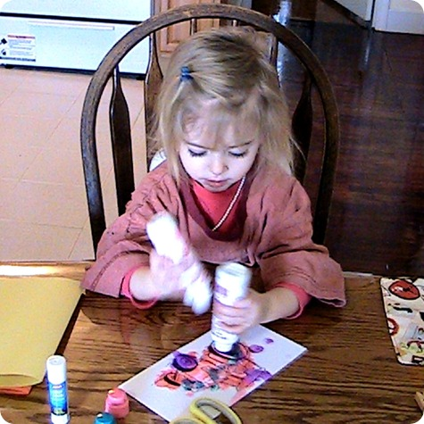 Making Birthday cards for Grandpa's Birthday