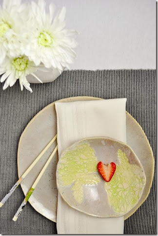 Modern Minimalist Valentines Day place setting