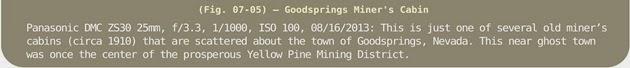 Image Title Bar 117 Fig 07-05 Goodsprings Miner's Cabin