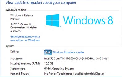 Check Windows 8 64-bit or 32-bit Version
