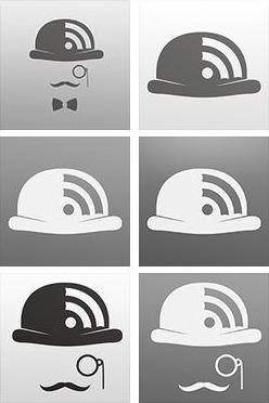 Mr reader ipad rss reader icon design history mockup