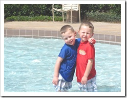 Florida vacation 3.12 Cody and Kyle in pool
