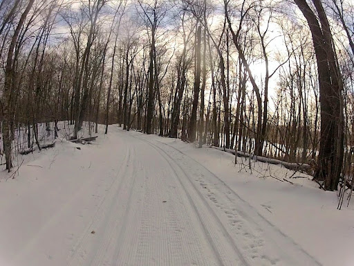 Twin Lakes trail after grooming