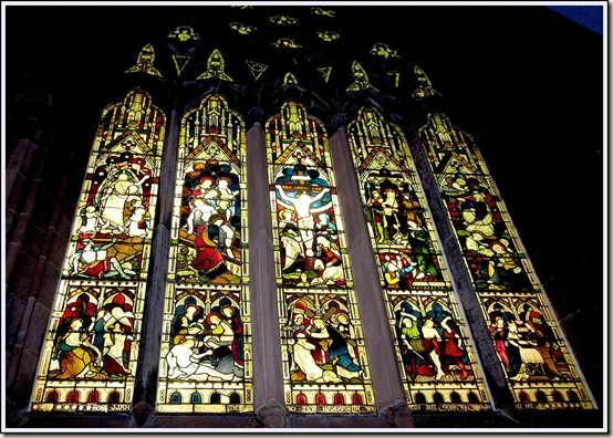 A stained glass window in St Thomas' church, Stockton Heath