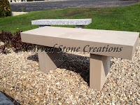 Classic Garden Bench L42in, Indiana Buff Limestone