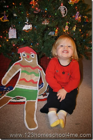Life size Gingerbread Pirate in Christmas Crafts for Kids