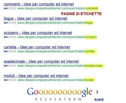 etichette-indicizzate-da-google