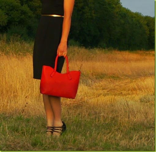 Aluna J red handbag