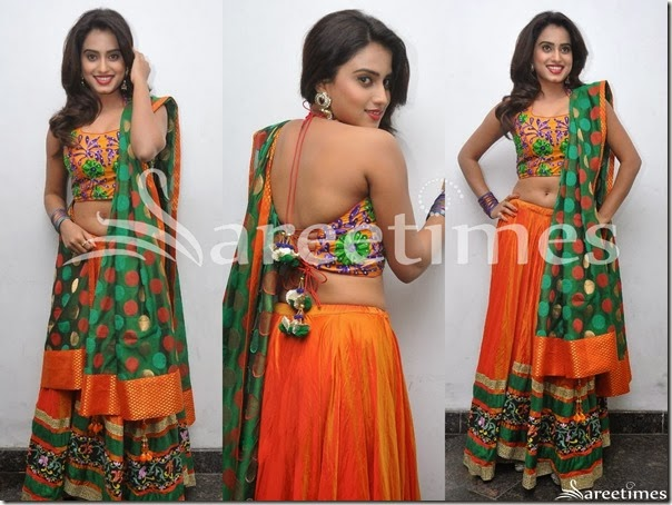 Dimple_Orange_Lehenga