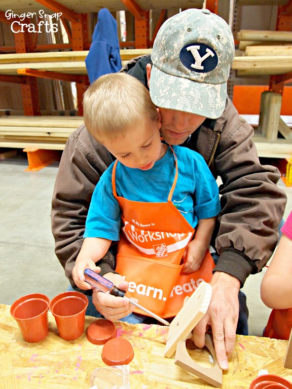 The home depot kids workshop is the perfect place for the kids to
