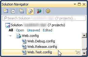 Web.config transforms backing files