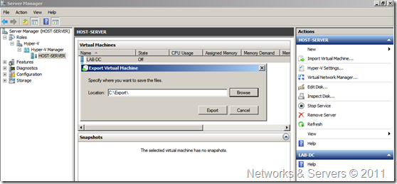 Virtual Machine Export