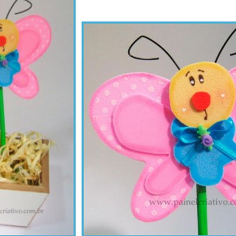 Manualidades día de la madre Mariposa en foamy