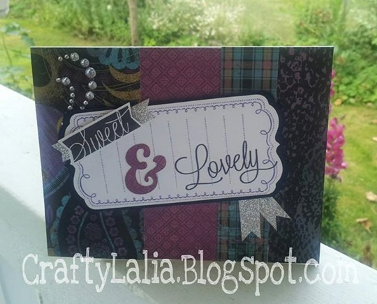 Card made with the new Laughing Lola paper & CTMH Artbooking Cricut Cartridge