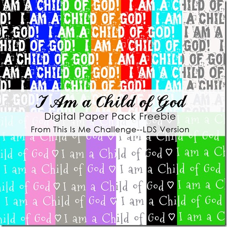 TIMC--LDS I Am a Child Of God Paper Pack