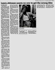 1983-08-31_Times-News - Laura Johnson wants no one to get the wrong idea