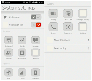 Ubuntu Touch System Settings
