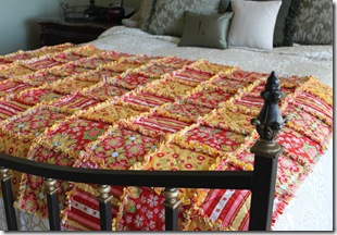 Rag Quilt Yellow and Red 035
