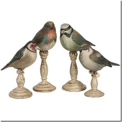bird wooden figurines