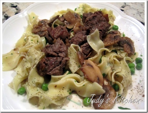 tenderloin beef tips marsala  (2)