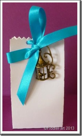 wedding Favour Box with bird cage embellishment.3