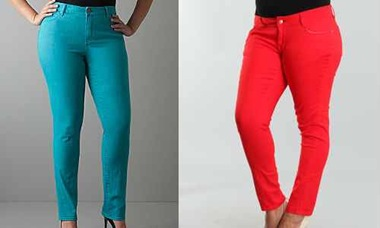Left-Soho-skinny-jean-and-right-red-Plus-size-skinny-jeans-via-become.com_