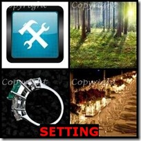 SETTING- 4 Pics 1 Word Answers 3 Letters
