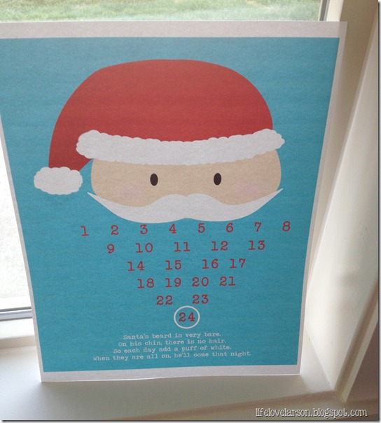 santa calendar 1