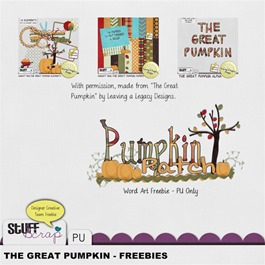 Leaving a Legacy Designs - The Great Pumpkin - Word art Freebie