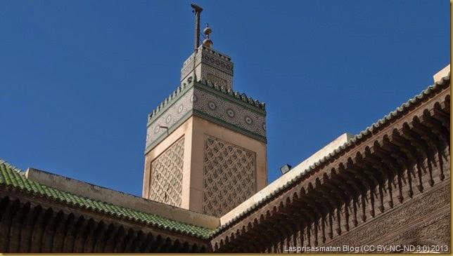 El minarete situado en la esquina noroeste
