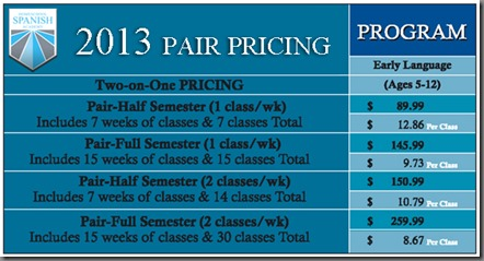 early pair pricing
