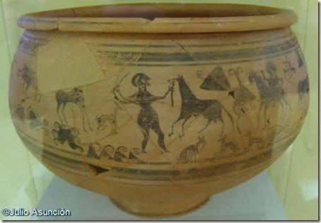 Vaso ibérico del domador de caballos - Museo de Prehistoria de Valencia