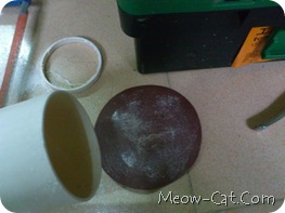 how to building cat tree - Cutting PVC pipe 5