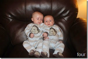four month old twins