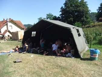 mi camping en Guča