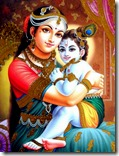 Lord Krishna and mother Yashoda
