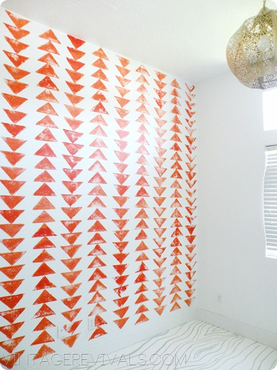 DIY Tribal Triangle Wallpaper
