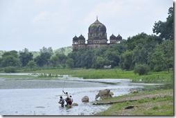 orchha khajuraho 029 cenotaphe de Rani Kamplapati