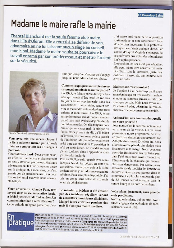 1  JOURNAL PROPRIETAIRES OLERON MAI 2014