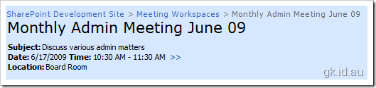 SharePoint Meeting Workspace Sites, How and Why?