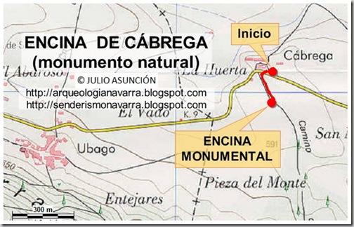 Mapa Encina de Cábrega