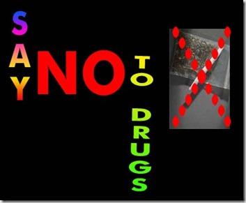 ah no-drug poster